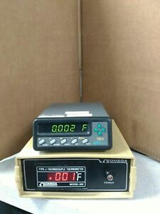 Omega Model 650 J Type Thermocouple Thermometer Certified