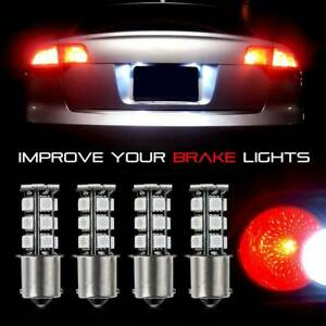 4x 1156 Ba15s P21w 18smd Red Led Turn Signal Light Taillight Lamp Bulb 12v