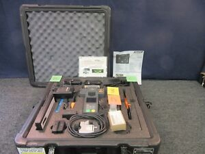 Fiber Optic Fitel S121 Cable Wire Splicer Kit Kitco Military Fusion Case Used