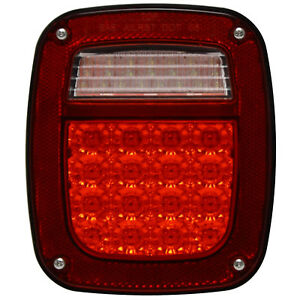 Led Jeep Wrangler Tail Light With Connector For 1998 2005 Tj Driver Side