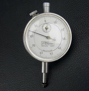 Fowler Dial Indicator Gauge 0 1 0 001 Made In England Repeats Perfectly