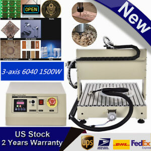 Top 3 axis 6040 1500w Cnc Router 3d Engraver Engraving Milling Carving Machine
