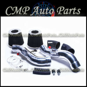Black Dual Air Intake Kit Fit 2007 2008 Nissan 350z 3 5 3 5l V6 Engine