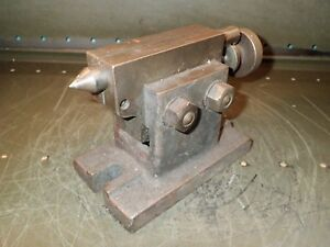 11 Swing Lathe Dividing Head Rotary Table Adjustable Height Tailstock Footstock