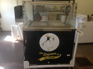 Cardinal Cold Plate Ice Cream Scoop Cart W attachments