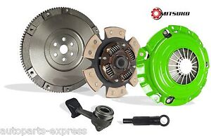 Clutch Kit With Solid Flywheel Upgrade Mitsuko Stage 2 For 04 07 Ford Focus 2 3l