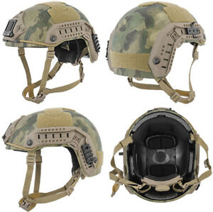 Maritime FAST Tactical Advanced Helmet ML + Accessories in AT-FG Camo CA-805F