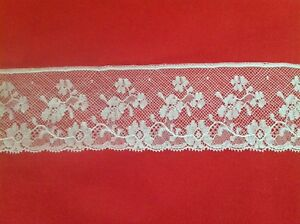 French Cotton Lace Edging 2 Yards X 2 3 8 White