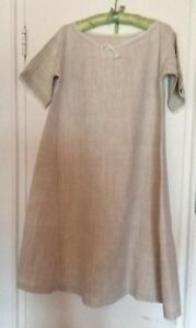 French Vintage Linen Hemp Nightgown