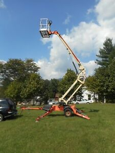 Jlg T350 Towable Portable Articulating 35ft Lift Height Boom Lift