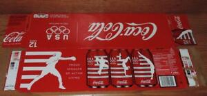 2012 US COCA-COLA LONDON OLYMPIC COLLECTOR SERIES EMPTY 12-PACK SODA CAN CARTON