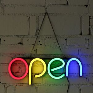 Sign Open Neon Bulb Led Light Handmade Commercial Lighting Business Shop Display