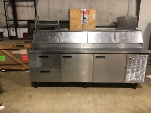 Delfield 96 Commercial Pizza Prep Table Cooler Sandwich Prep Used