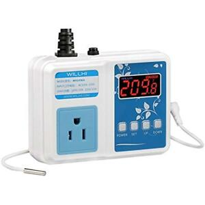 Willhi Wh1436a Temperature Controller 110v Digital Thermostat Switch Sous Vide C