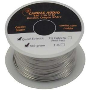 Cardas Soldering Wire Quad Eutectic Silver Solder With Rosin Flux 1 4 Lbs 110g