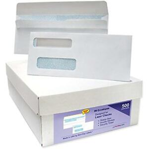9 Ready seal Double Window Security Tinted Check Envelopes Compatible For Quic