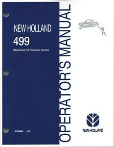 New Holland 499 Discbine Mower conditioner Operator s Manual 87378895