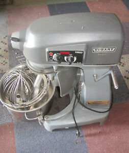 Hobart Hl200 20 Quart Commercial Dough Mixer W Bowl Whisk Cage Guard Beater