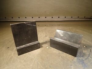 2 Piece Lot Granite Machinist Precision V block Angle Plate Marble onyx Used