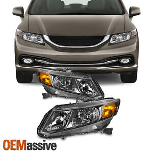 For Honda Civic Sedan 2012 2015 Coupe 12 13 Headlights Left Right Side Pair