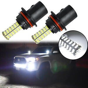 2x High Quility 6000k White Single Funtion 9007 9004 120 Smd Led Headlight Bulbs