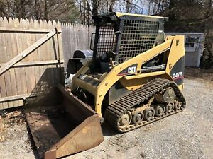 2006 Caterpillar Cat 247b Skid Steer Loader Turbo With Bucket