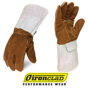 Ironclad Split Leather Welding Gloves Exo2 Mig Welder Gloves 12 Pair Bulk Case