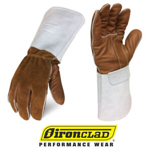 Ironclad Grain Leather Welding Gloves Exo2 Mig Welder Gloves 12 Pair Bulk Case
