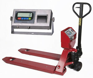 New Industrial Warehouse Pallet Jack Scale With Label Printer 5000 Lb Capacity
