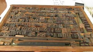Vintage Wood Letterpress Letters Numbers Print Block Over 210 Print Blocks Rare
