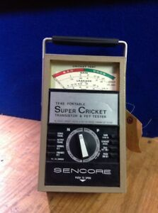 Sencore Tf46 Portable Super Cricket Transistor Fet Tester
