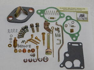 Carter Wo Carburetor Master Rebuild Kit Army Jeep Willys Cj2a Mb Cj3a G503 Carb