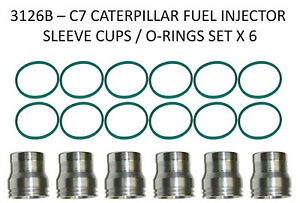 Cat 3126b C7 Caterpillar Fuel Injector Sleeve Cup With Orings 2272911 8c0563