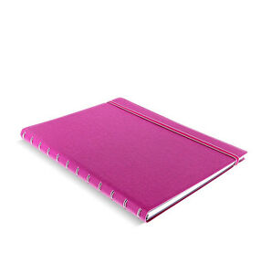 A4 Size Filofax Refillable Leather look Ruled Notebook Note Diary Fuchsia Gifts