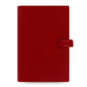Filofax Personal Size Finsbury Organiser Diary Book Cherry Red Leather 022497