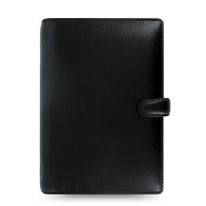 Filofax Personal Size Finsbury Organiser Planner Diary Book Black Leather 025302