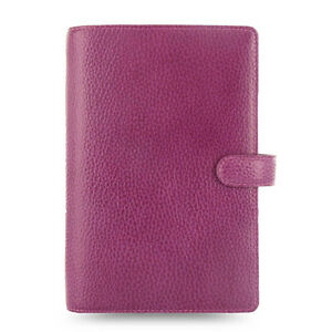 Filofax Personal Size Finsbury Organiser Diary Book Raspberry Leather Xmas Gifts
