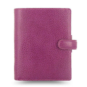 Filofax Pocket Size Finsbury Organiser Diary Book Raspberry Leather 025342