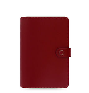 Filofax Personal Size Original Organiser Diary Book Pillarbox Red Leather Hot