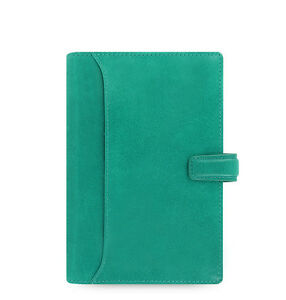 Filofax Personal Size Lockwood Organiser Diary Book Aqua Green Leather 021686