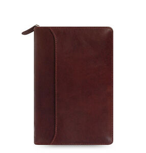 Filofax Personal Size Lockwood Zip Organiser Diary Garnet Red Leather 021687 J2