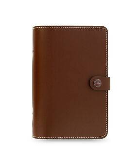 Filofax Personal Size Original Organiser Planner Diary Book Brown Leather 022434