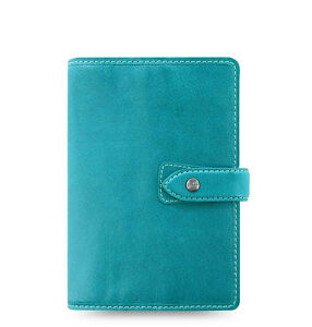Filofax A6 Personal Size Malden Organiser Planner Diary Plan Blue Leather 026026