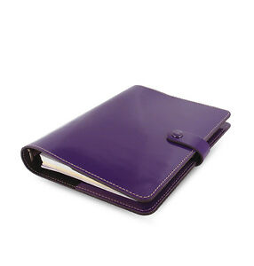 Purple Filofax A5 Original Organiser Planner Notebook Diary Book Leather Fashion