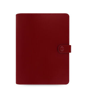 Filofax A5 Original Organiser Planner Diary Book Pillarbox Red Leather 022381