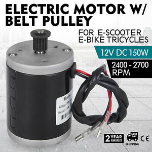 Electric Motor 12v Dc Motor With Belt Pulley 150w Generators Trishaw Scooter