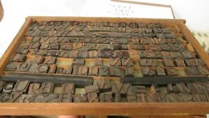 Vintage Wood Letterpress Letters Numbers Print Block Over 200 Print Blocks Rare