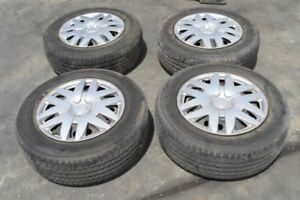 2005 Toyota Sienna Wheels 225 60 16 Steel Rims Goodyear Tires 90 Tread