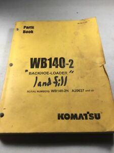 Komatsu Wb140 2 Backhoe Loaders Parts Book Manual
