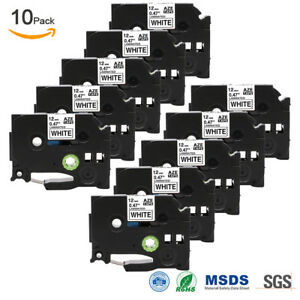 10 Pk Label Maker Tape Compatible For Brother P touch Tape Tz 231 Tze 231 0 47